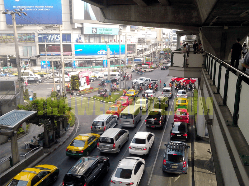 asoke bts station view from skywalk